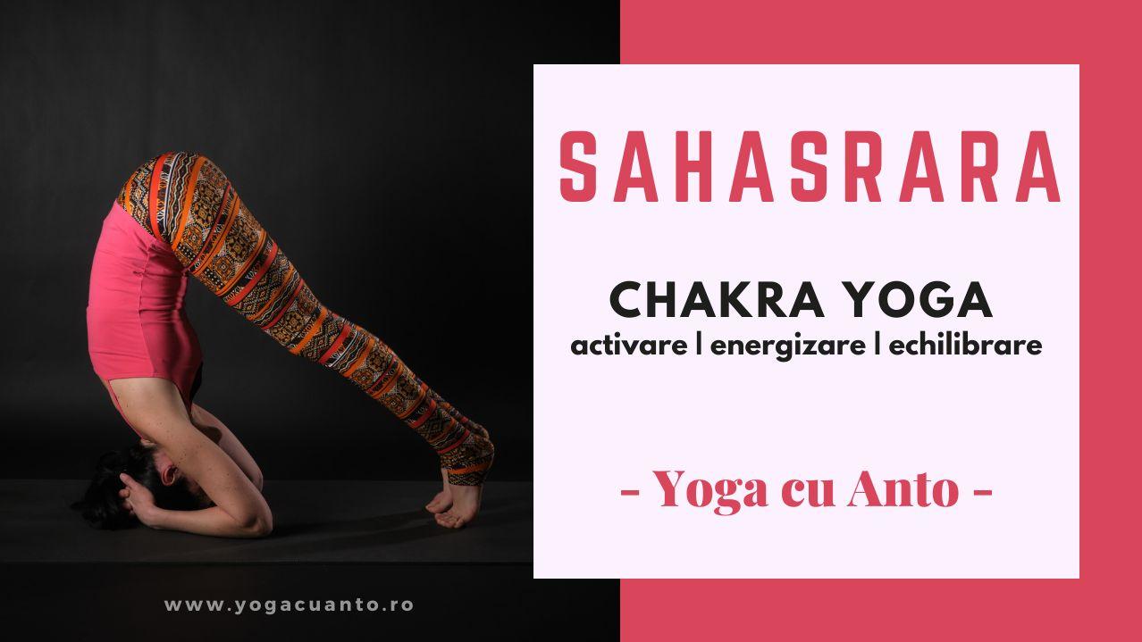 YO65 Postura yoga activare sahasrara