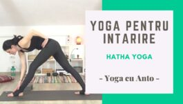 afis cu o postura yoga